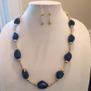 Jewelry - Dyed blue onyx